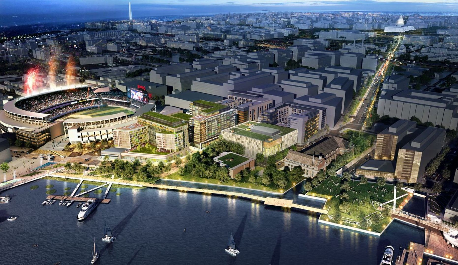 Booming Capitol Riverfront In Washington Dc