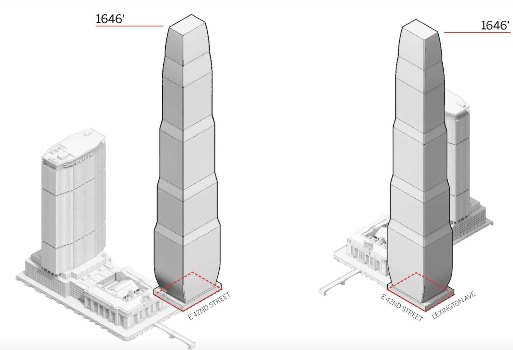 1,600-Foot Office And Hotel Tower Planned Next To Grand Central