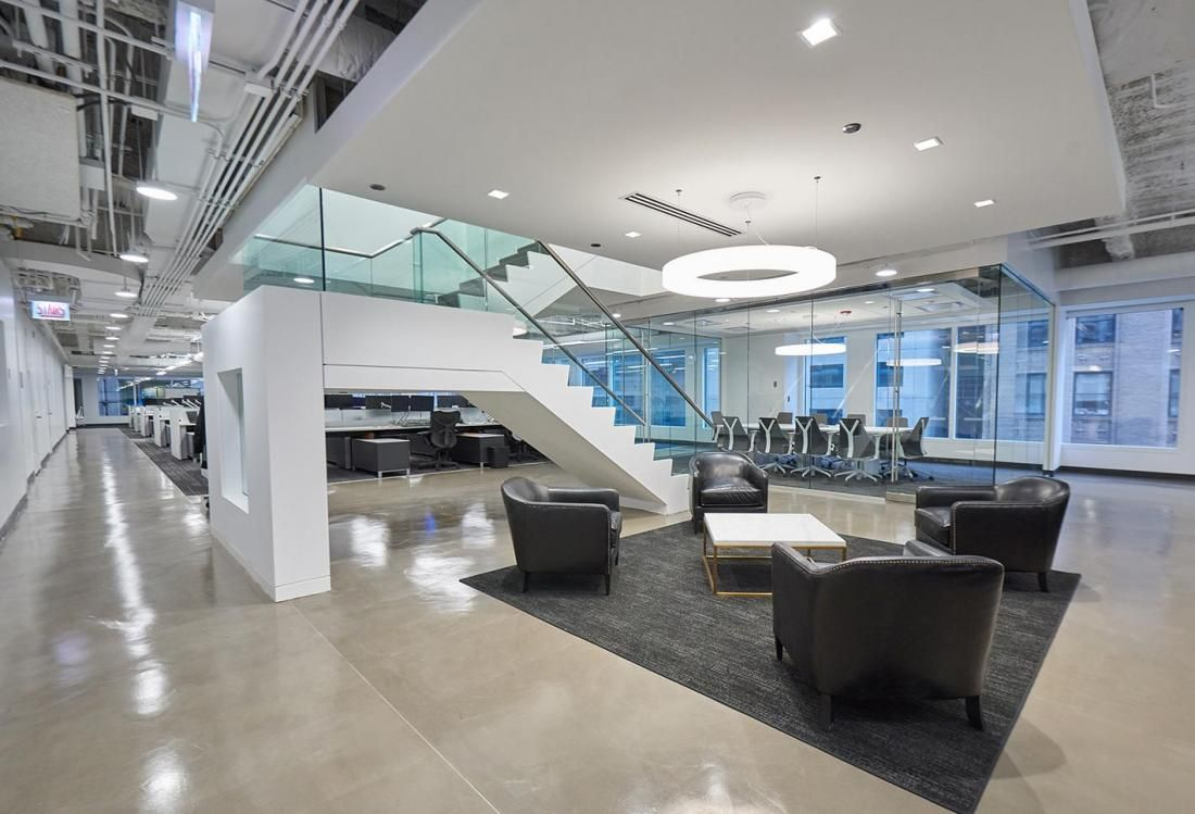 Bear construction brings modern design and openness to - Commercial interior design chicago ...