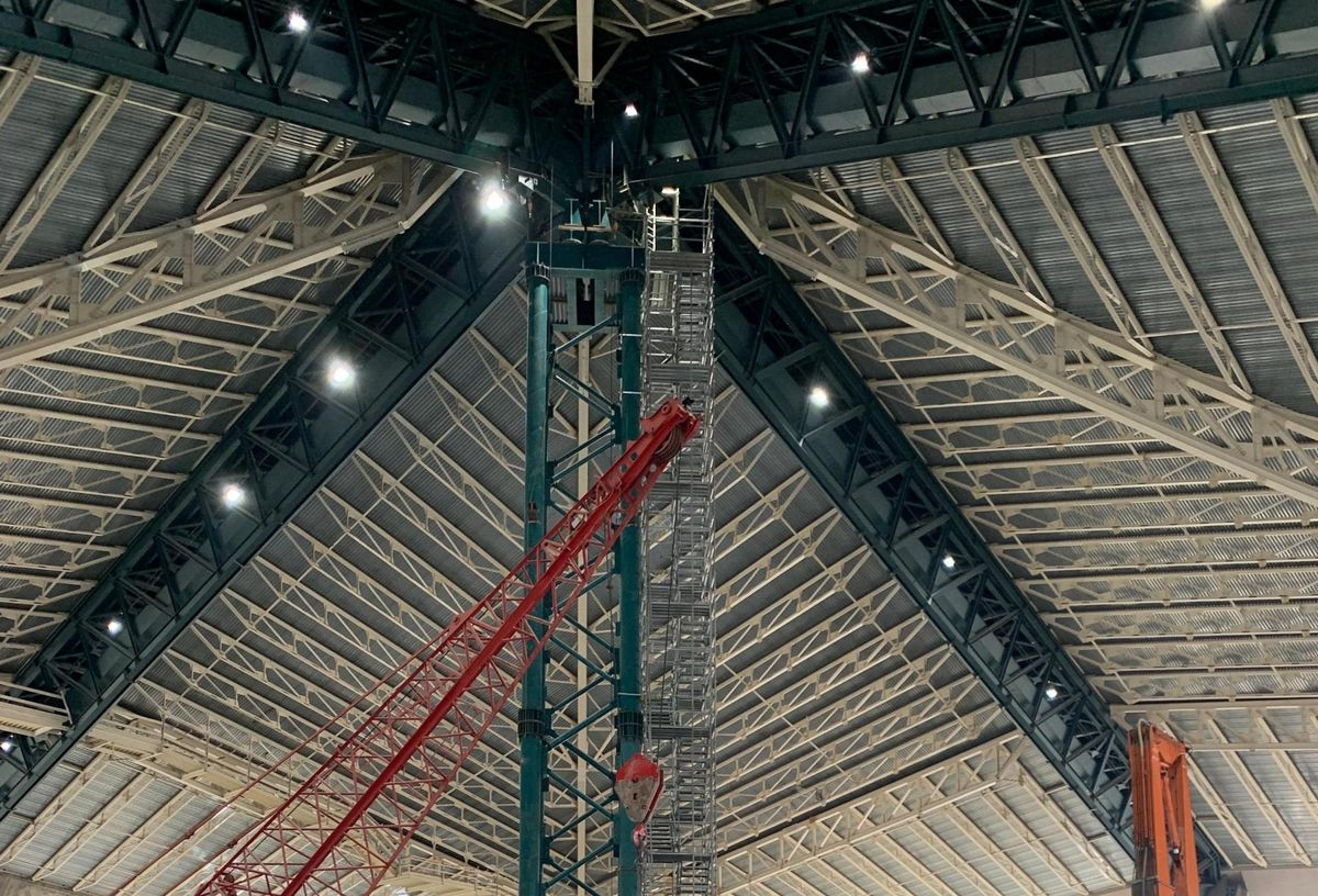 Keyarena Gutted With 44m Pound Roof Held Up By Steel Beams