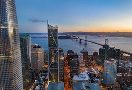 San Francisco's skyline, including 181 Freemont condominium complex