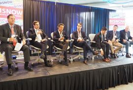 CBRE's David Webb, The Meridian Group's Gary Block, Morning Calm Management's Mukang Cho, WashREIT's Andrew Leahy, MetLife's Anthony Balestrieri, EagleBank's Ryan Riel and Global Holdings' Craig Panzirer