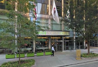The MileNorth Hotel in Chicago, IL. This is the future site of Cambria Hotel & Suites Chicago - Magnificent Mile