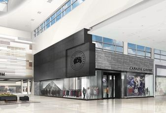 A rendering of the Canada Goose store coming to Yorkdale Shopping Centre in Toronto, the first of its kind in Canada