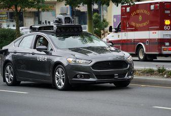 Uber self driving car in San Francisco