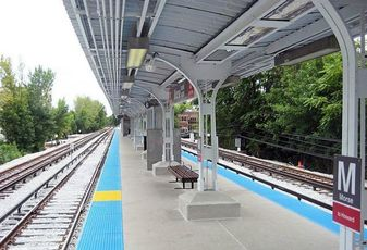 Chicago Transit Authority's Morse Red Line 'L' Station