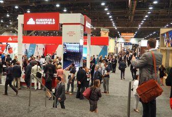 The ICSC RECOn networking floor in Las Vegas, 2016