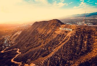 Hollywood Sign; Los Angeles; California, skyline