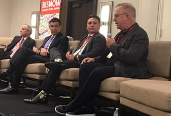 Aurelio Fernandez, President and C​EO, Memorial Healthcare System; Ben Riestra, Chief Administrative Officer, Lennar Foundation Medical Center, UHealth, Miller School of Medicine; Peter Baronoff, Chairman and Chief Executive Officer, Promise Healthcare, Inc.; Randy Parker, Founder/Chief BDO, MDLive