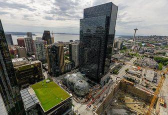 Seattle-based headquarters of Amazon