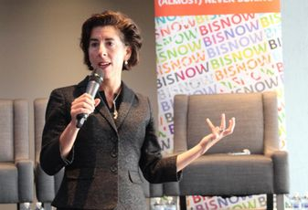 Raimondo Announces 500 New Jobs For R.I., Some Thank Trump Instead