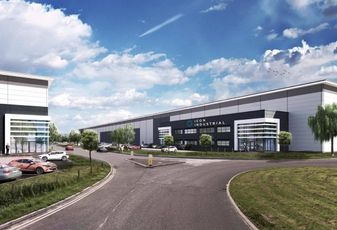 Stoford/TPG's 1M SF Icon logistics development at Manchester Airport January 2018
