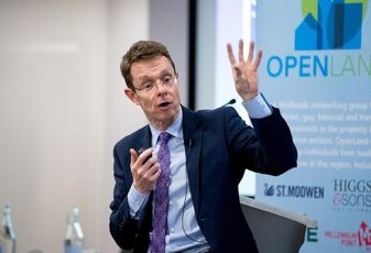 West Midlands Metro Mayor Andy Street speaking at Open Land event Birmingham Jan 2018
