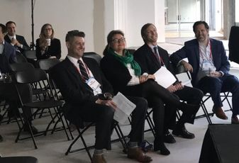 JLL Director of Research Paul Hendershot, University City Partners Executive Director Darlene Heater, Bellwether Enterprise EVP and Co-Director of Southeast Region Cooper Willis, Pender Capital Co-Founder/ Managing Director Zach Murphy