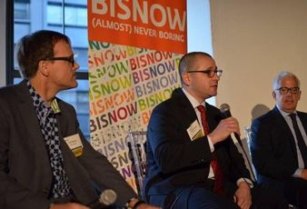 Former Brookfield NYC and Boston head David Cheikin speaks at a 2014 Bisnow event.