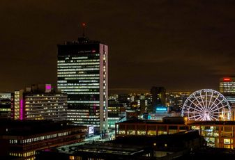 Manchester night view 2014