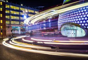 Birmingham traffic road Selfridges department store