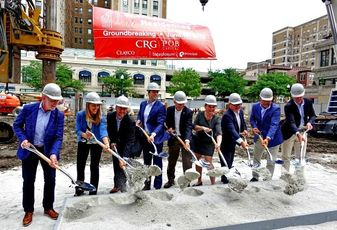 Clayco Multifamily Director Alan Schachtman, Principal Real Estate Investors Investment Manager Kristin Maletta, Principal Real Estate Investors Senior Investment Officer Chad Zirbel, CRG President Shawn Clark, Alderman James Cappleman, Cappelman Chief of Staff Tessa Feher, POB Capital Managing Principal Rich Holly and POB Capital Principal Mike McNeive