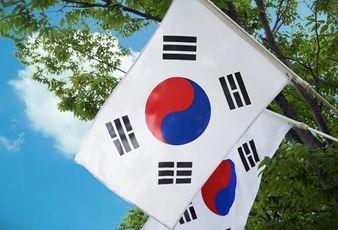 south korea korean flag