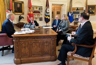 President Trump's Jan. 24 meeting with GSA Administrator Emily Murphy and other administration officials
