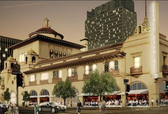 Rendering of the Herald Examiner Building in downtown Los Angeles