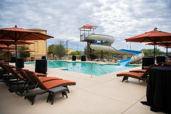 Casino del Sol's pool and water slide, just opened in Summer 2019.