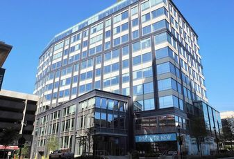 Federal Realty's newly delivered 909 Rose office building at the Pike & Rose development.