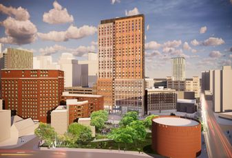 As Winthrop Center Rises, Its Companion Affordable Housing Tower Stalls