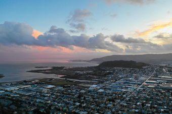San Franciso Shipyard at sunset
