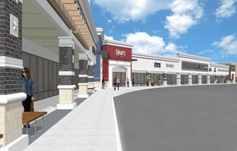 A rendering of the planned renovations at Cyfair Town Center in Cypress.