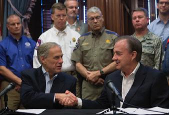 Abbott Announces Centralized Harvey Effort On Texas A&M Campus