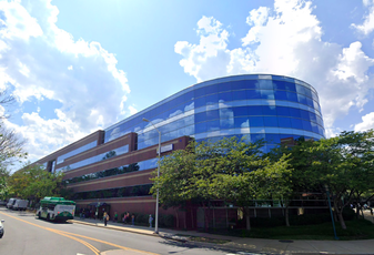 One of the three buildings in the Sequoia Plaza office complex in Arlington, Virginia.