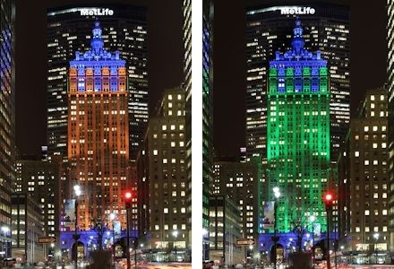NYC: Getting Into the Super Bowl Spirit