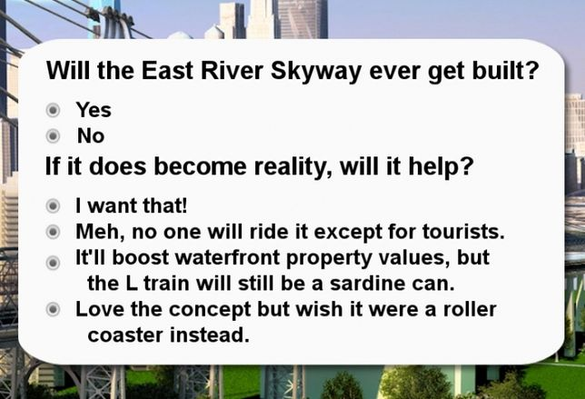 YOU TELL US: Will East River Skyway Happen?