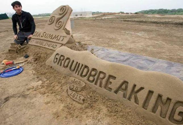 Groundbreaking in the Sand