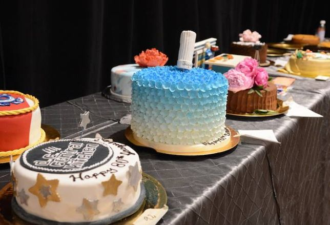 Celebrating a Culinary Great with Cake