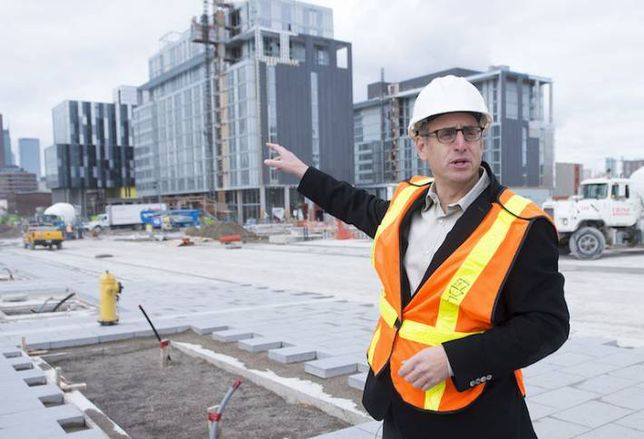 Dream Unlimited development vice chair Jason Lester, on site at Canary District.