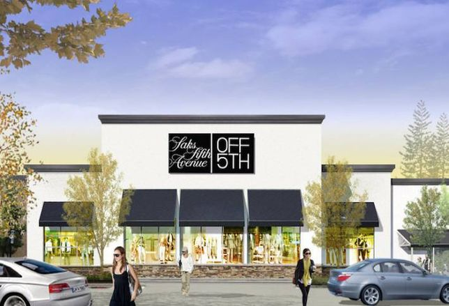 A rendering of a Saks OFF 5TH store