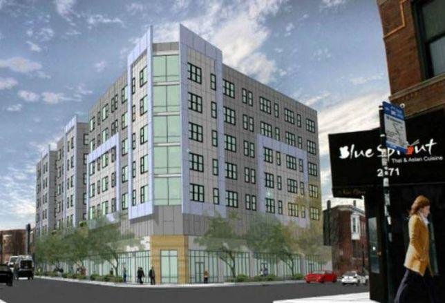 Logan Square Residents Protest Apartment Tower Development