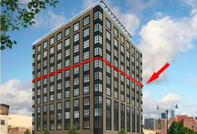 A rendering of the proposed Nobu Hotel in Fulton Market, Chicago.