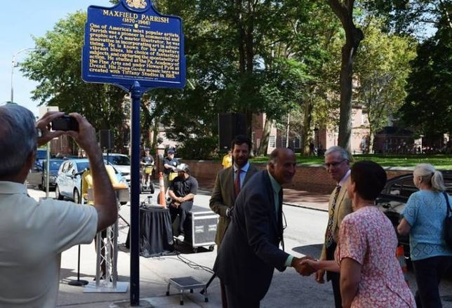 Historic Marker Near The Curtis Honors Maxfield Parrish