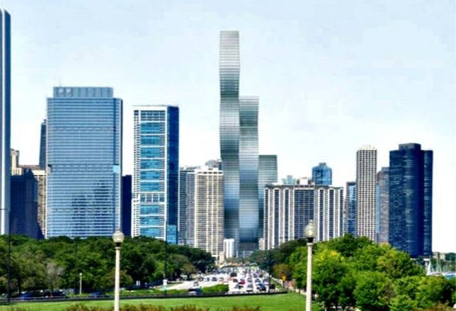 A rendering of Vista Tower in Chicago.