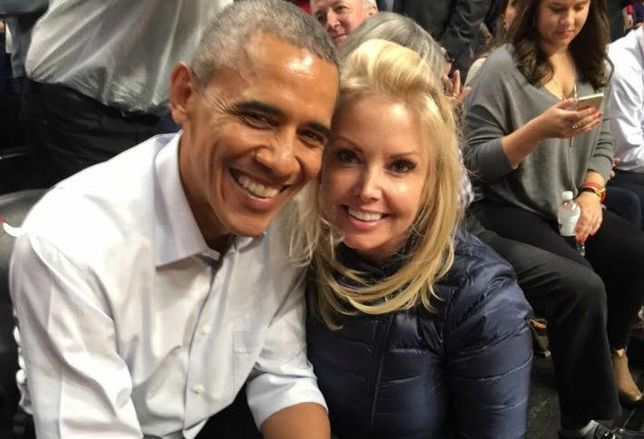 Fifield Realty Corp. Chairwoman Randy Fifield with President Barack Obama