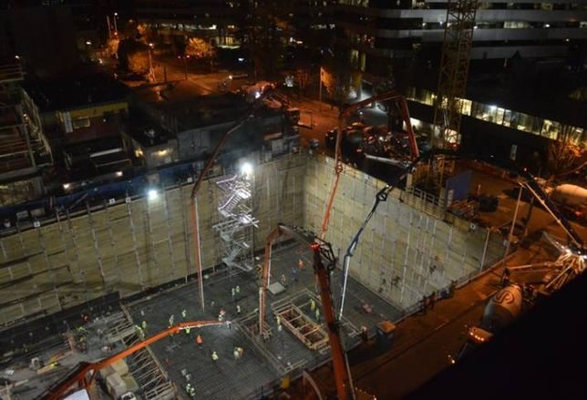 Massive Concrete Pour Pushes Forward Denny Triangle Transformation