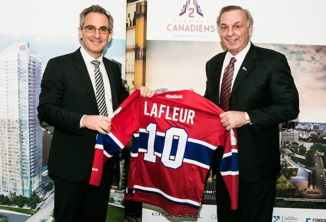 Guy Lafleur Helps Sell Canderel's Montreal Condo