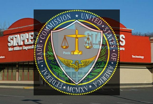 FTC Logo Over Staples
