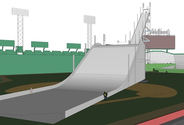 What's 150' High, 338 Feet Long And Inside Fenway Park?