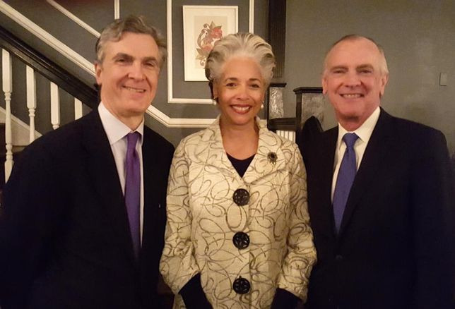 Steptoe chair Phil West, retiring chief diversity partner Sandy Chamblee, and Legal Services Corporation president and Steptoe Diversity Advisory Board chair Jim Sandman