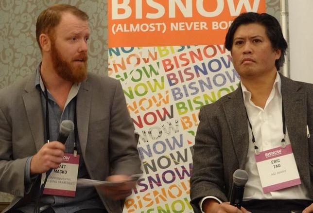 Matt Macko of Environmental Building Strategies and Eric Tao, CEO of AGI Avant at San Francisco State of Market 2016