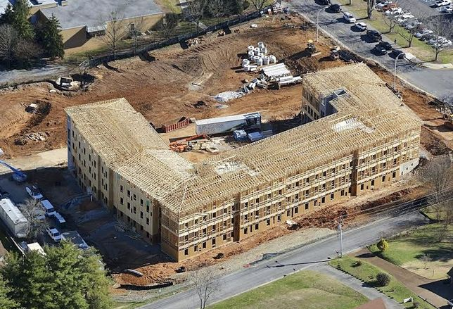 New Dorm Tops Out At Dalton State College In Georgia